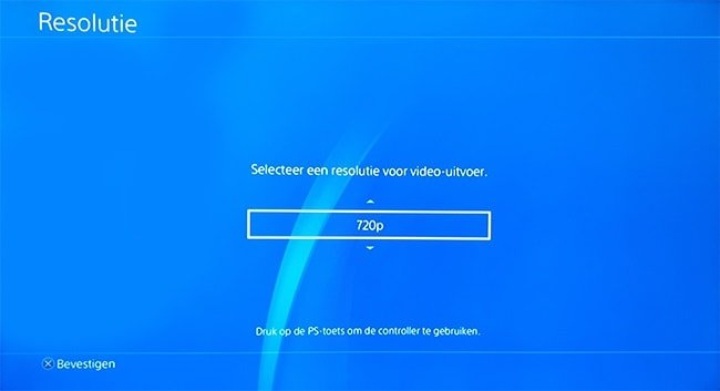 PlayStation 4 resolutie resetten