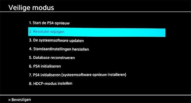 PlayStation 4 veilige modus