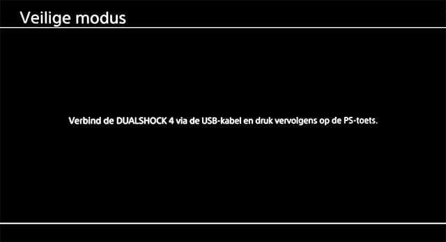 PS4 veilige modus